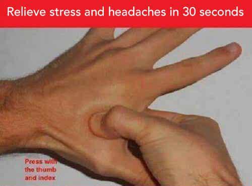 두통과 스트레스에 좋은 지압법