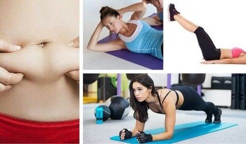 복부 지방을 태우기 위한 간단한 운동 7가지