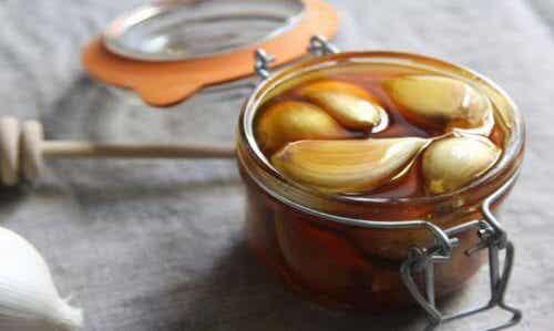 간에 좋은 꿀과 마늘 요법