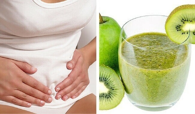 pear-kiwi-smoothie-against-bloating