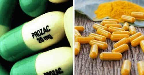 7가지 약물과 강황의 효능 비교