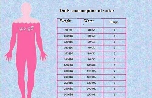 몸무게에 따라 얼마나 많은 물을 마셔야 할까?