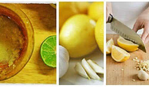 뱃살을 빼주는 마늘과 레몬 민간 치료법