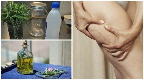 셀룰라이트를 없애는 알콜 로즈마리 치료제 만드는 방법