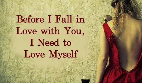 사랑에 빠지기 전에 자신을 먼저 사랑하자