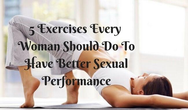 더 나은 성생활을 위해 여성에게 추천하는 운동 5가지