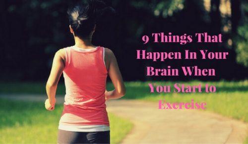 운동할 때 뇌에서 일어나는 9가지 현상