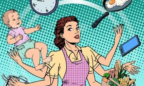 """남편의 존재는 """"7시간 노동 추가""""를 의미한다"""