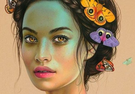 1-woman-with-butterflies-in-hair