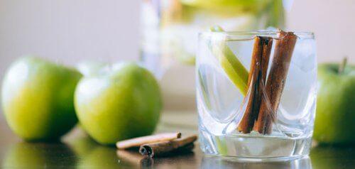 사과와 레몬을 곁들인 계피 워터 만드는 법