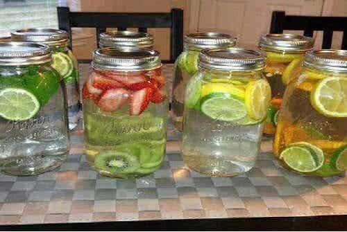 치유 효능을 갖고 있는 맛있는 물