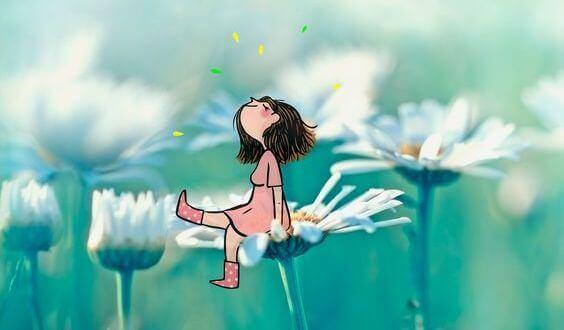 girl-on-flower