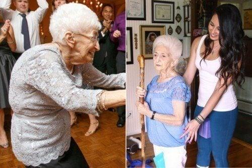 요가를 배워 자세를 바꾼 87세 여성 이야기
