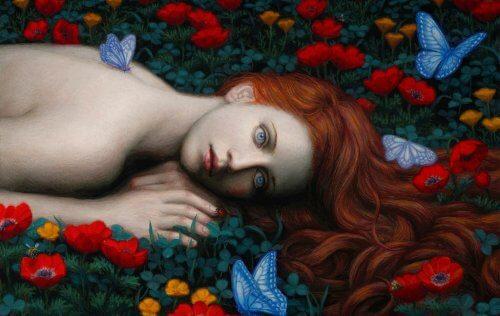 woman-in-flower-garden
