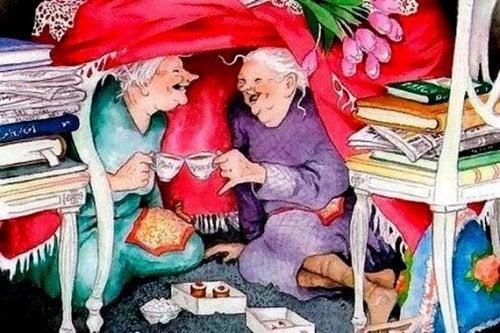 나이가 들면 젊게 사는 사람과 함께 하고 싶다