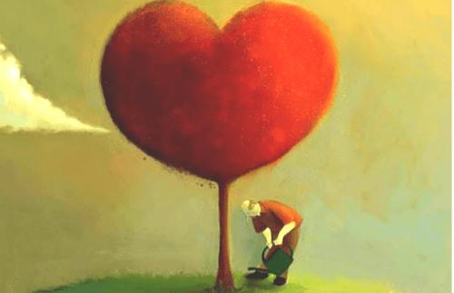 사랑하는 사람들에게 열심히 사랑을 표현하기