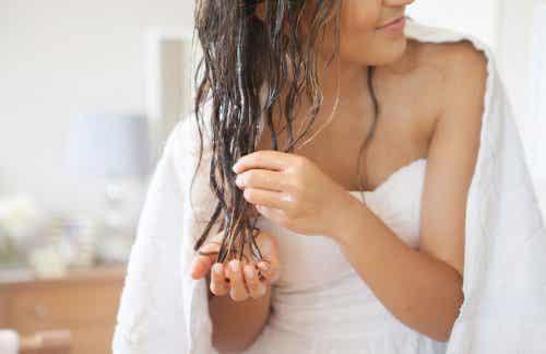 코코넛 오일로 머리카락 관리하기