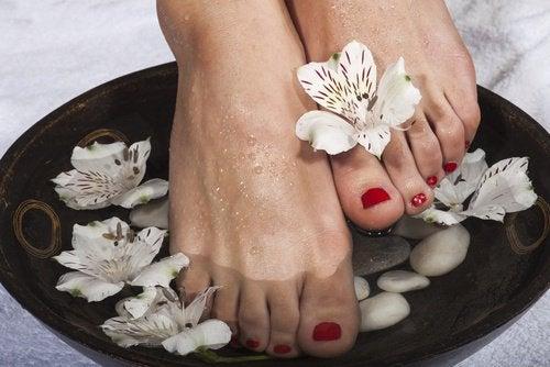 발을 위한 식초 치료제 만드는 방법