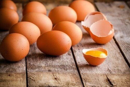 플라스틱 용기에 달걀을 넣으면