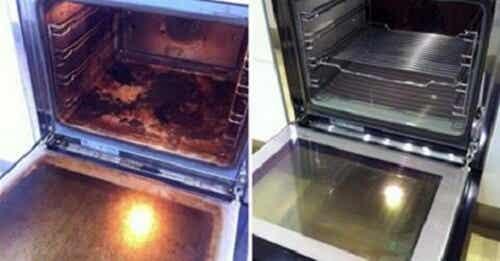 천연 재료로 오븐 청소하기