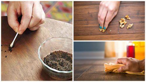 원목 가구의 스크레치를 없애는 방법 8가지