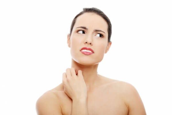 간과 피부 민감증