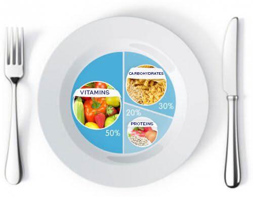 체중 감량을 위한 한 그릇의 비율
