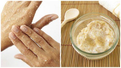 손을 부드럽게 만드는 천연 설탕 스크럽
