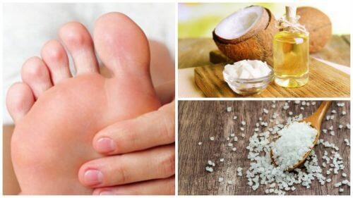 코코넛 오일 및 소금으로 가꾸는 매끈한 발