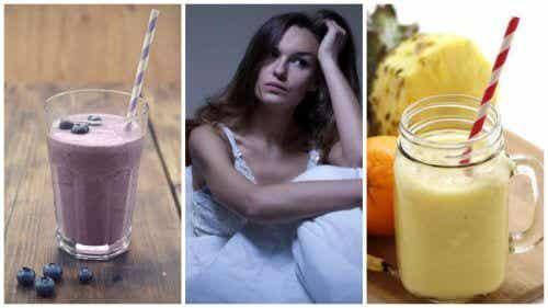 밤의 홍조 증상을 없애는 데 도움이 되는 천연 스무디 5가지