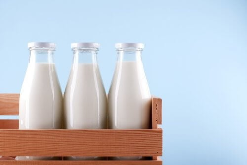 영양분 섭취를 우유