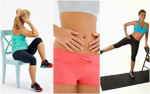 뱃살을 빼는 데 도움이 되는 5가지 의자 운동