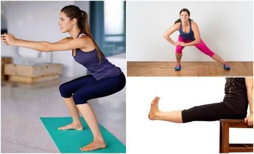 집에서 할 수 있는 5가지 다리 운동