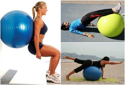 엉덩이 운동을 위한 짐볼 동작 5가지