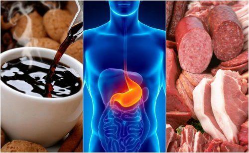 속쓰림을 유발하는 8가지 식품