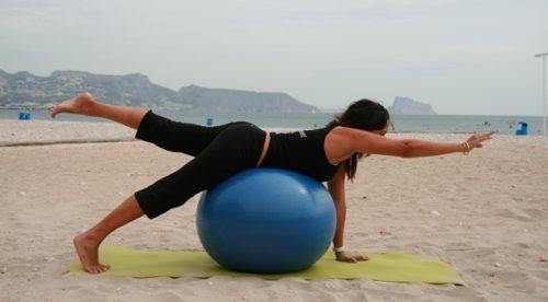 짐볼을 이용한 대측 운동