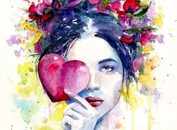 사랑에 눈이 먼 여성