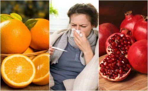 독감을 예방하는 데 좋은 8가지 식품