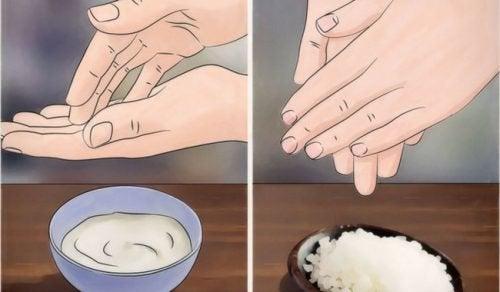 부드러운 손을 위한 4가지 천연 요법