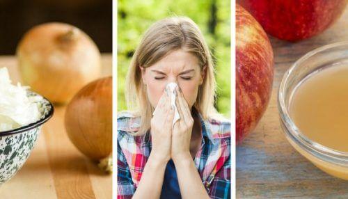 천연 항히스타민 재료로 알레르기 치료하기