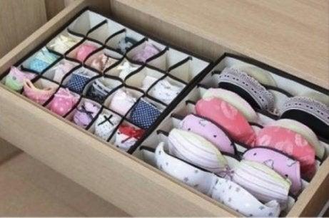 속옷 정리함 옷장 공간을 더 확보하기 위한 5가지 비법