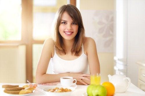 아침 식사의 철분