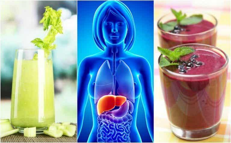 간을 정화해주는 과일 채소 스무디 4가지