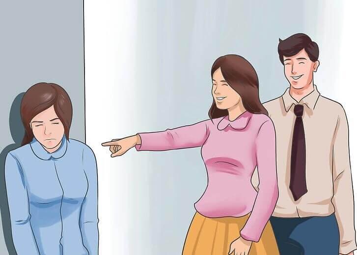 개인적인 관계에서 피해를 입는 사람들