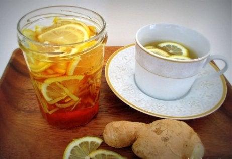 레몬 생강차