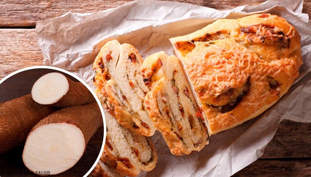 글루텐, 설탕, 유당이 없는 카사바 빵
