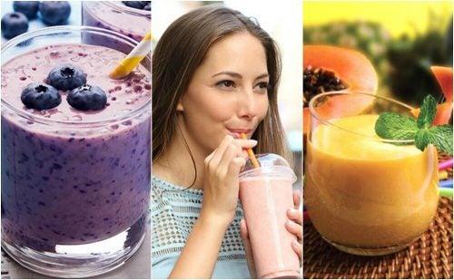 아침 식사로 좋은 5가지 건강한 스무디