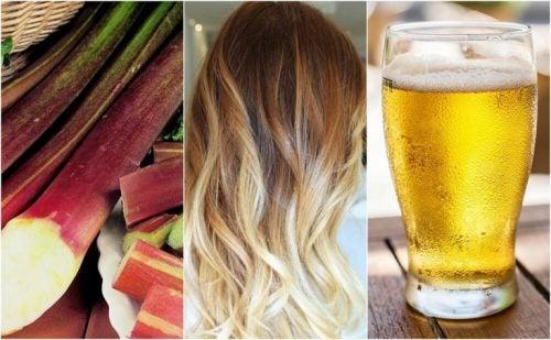머리 색을 밝게 하는 5가지 자연 요법