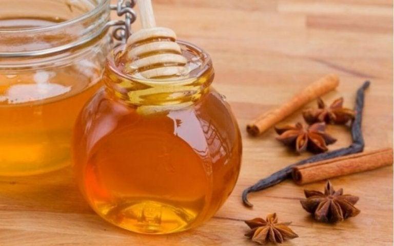 계피, 꿀, 식초 트리트먼트