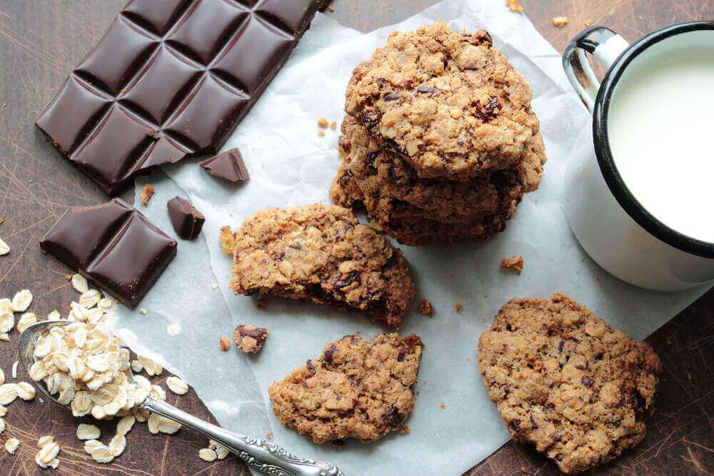 굽지 않는 오트밀 초콜 쿠키